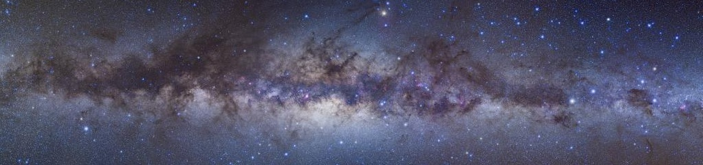 a panorama of the milky way